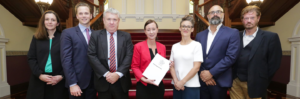 Photo of Qld Huamn Rights Act campaigners with then Attorney-General Yvette D'Ath