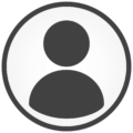 Round grey person icon