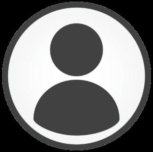 Round grey person icon