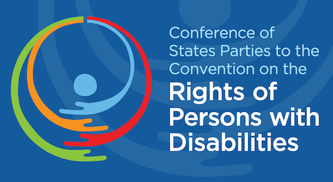 """Image with text that says """"Conference of States Parties to the Convention on the Rights of Persons with Disabilities"""""""