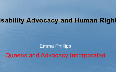 Disability Advocacy and Human Rights