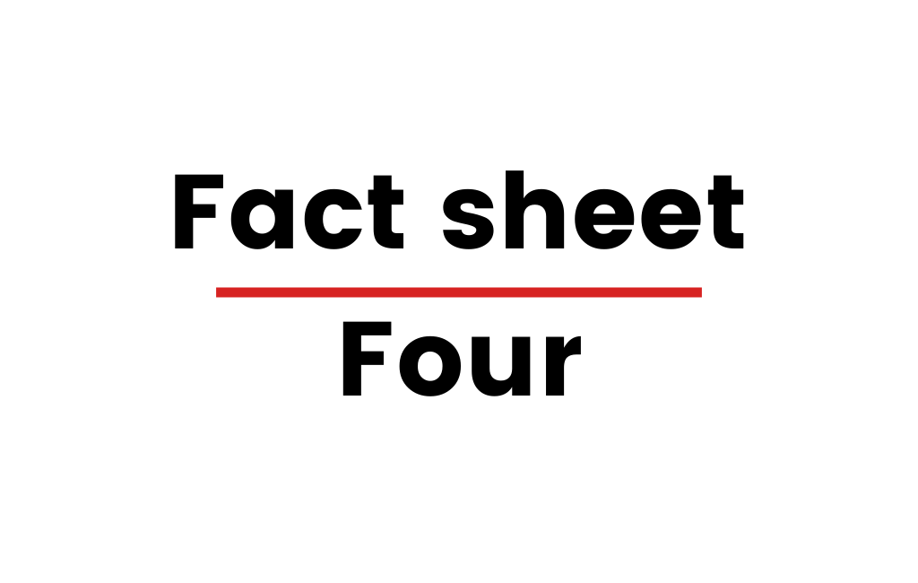 "Image with text that says ""Fact sheet Four"""