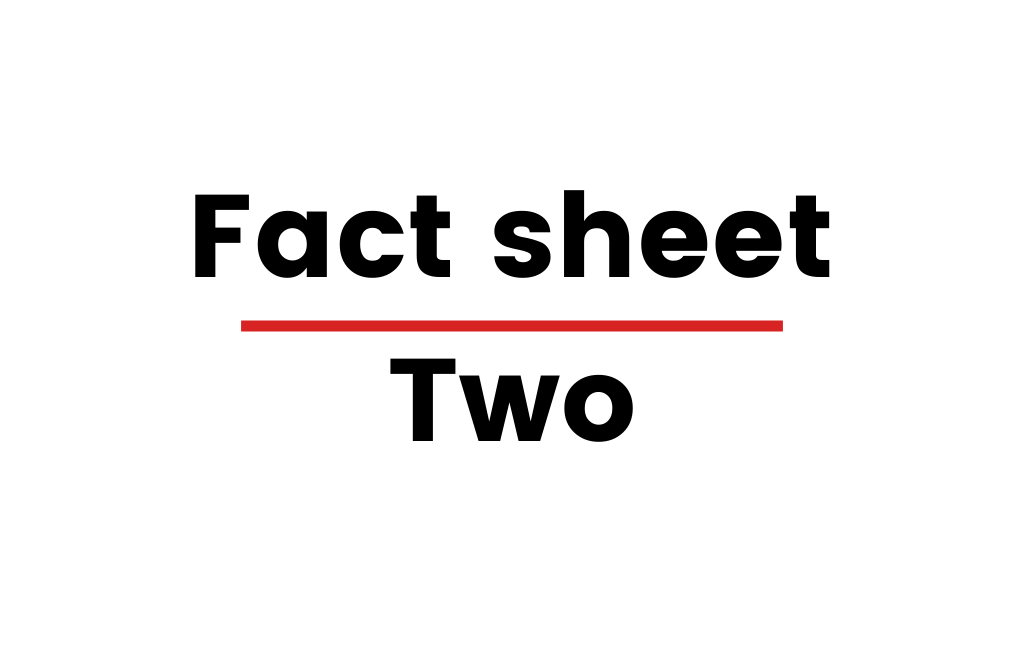 "Image with text that says ""Fact sheet Two"""