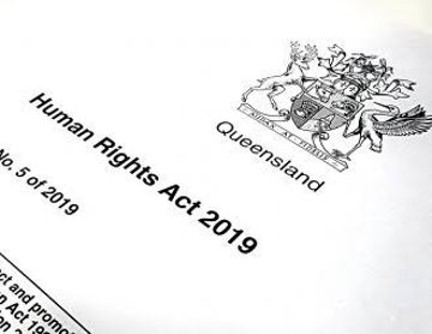Photo of cover page of the Human Rights Act 2019 (Qld)