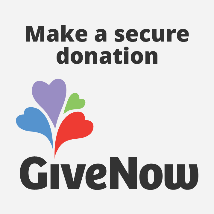 Image of Give Now logo on grey square